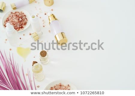 Natural Skincare Products On White Background