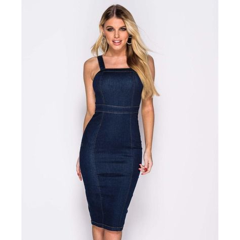 570c528294f Κομψό τζίν μίντι φόρεμα - Blue Royal | NEW ARRIVALS! | Denim midi dress,  Denim bodycon dress και Dresses