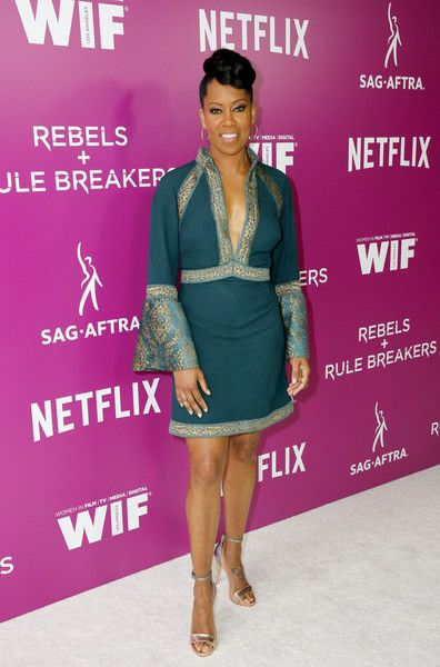 Regina King attends the Rebels and Rule Breakers Panel at Netflix FYSEE at Raleigh Studios.