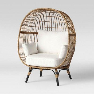 Magnificent Southport Patio Egg Chair Linen Opalhouse In 2019 Egg Spiritservingveterans Wood Chair Design Ideas Spiritservingveteransorg