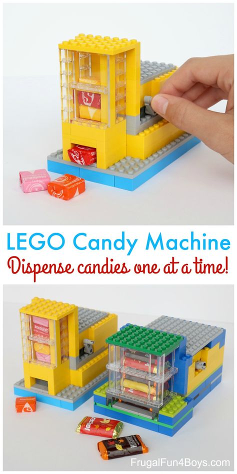 How to Build a LEGO® Candy Machine - Dispense One Candy at a Time! Building instructions in the post. How to Build a LEGO® Candy Machine - Dispense One Candy at a Time! Building instructions in the post. Lego Design, Legos, Lego Minion, Lego Batman, Lego Duplo, Lego Ninjago, Projects For Kids, Crafts For Kids, Group Projects