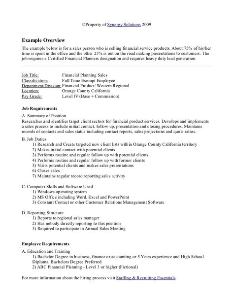 Sample job analysis Fall Pinterest Job analysis - sample analysis report