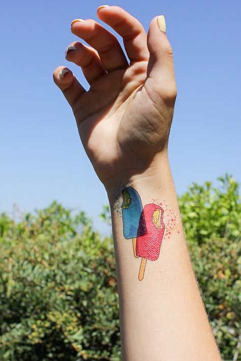 How To Print Your Own Temporary Ice Cream Tattoos
