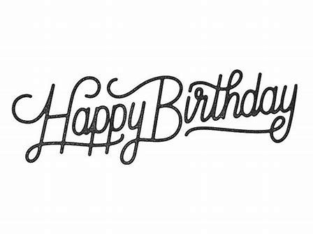 Image Result For Happy Birthday Script Pinterest Alles Gute