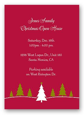 free christmas program templates - Free Christmas Invitation Templates