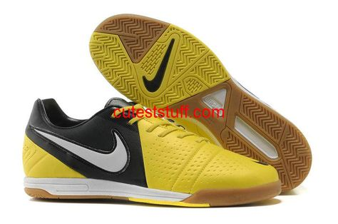 Nike5 Elastico Indoor Soccer Shoes Blue Glow with Yellow