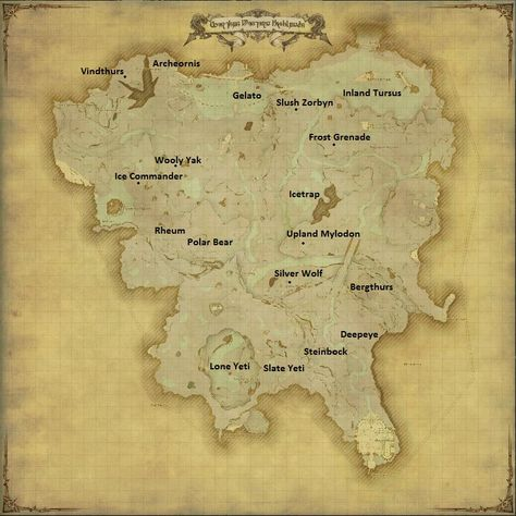 Hunting Bills | FFXIV Guides and Strats | Vintage world maps ...