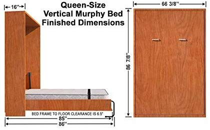 Amazon Com Diy Murphy Wall Bed Hardware Kit Queen Vertical Kitchen Dining Moveis Multifuncionais Madeira Diy Molduras De Madeira