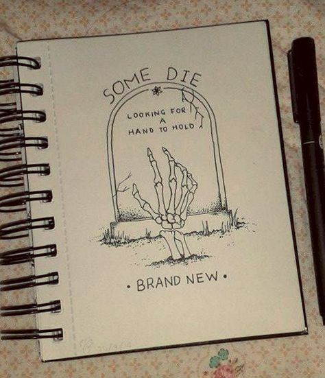 drawing lyrics Brand New doodle myart Dotwork