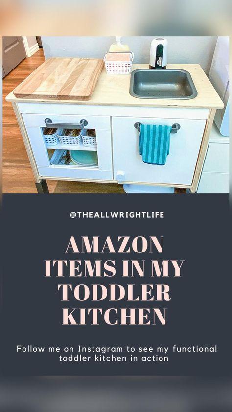 Toddler Play Kitchen DIY/Functional Toddler Kitchen/Play Kitchen Accessories
