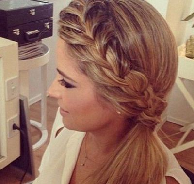 Wedding Hairstyles For Medium Length Hair Side Ponytail Rambut Juicy Couture Ide