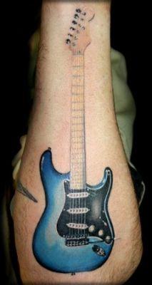 Dessin Guitare Electrique 3 Symboles Pinterest Tatouage