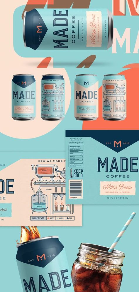 Check Out The Beautiful Illustrations and Typography On This Coffee