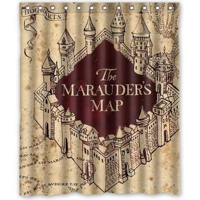 Gift Marauder S Map Harry Potter Shower Curtain 60 X 72 Inch One