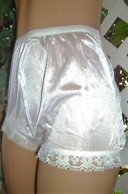 Carole's Usa White Icing Nylon & Scalloped Lace Granny Panty Brief 10/3x