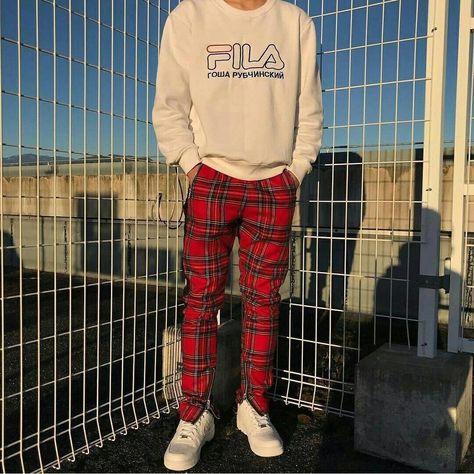 Pants Mens Hip Hop Hit Color Block Patchwork Streetwear