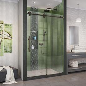 Dreamline Dreamline Elegance Ls 51 3 4 53 3 4 In W X 72 In H Frameless Pivot Shower Door In Satin Black Shdr 4335180 0 Shower Doors Frameless Sliding Shower Doors Shower Enclosure