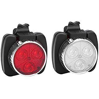 Feu arrière blanc pour velo LED Rechargeable USB 4 Modes  Lumière Lampe cycliste