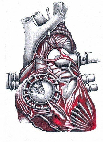 Mechanical Heart Tattoo Design Herz Tattoos Biomechanic Tattoo Mechaniker Tattoo
