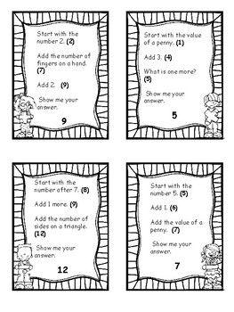 Mental Math Kindergarten Math Game Math Digits By Kelly Malloy