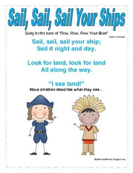 Columbus Songs Centers And Printables That Are Ccss Aligned Preschool Songs Fall Preschool Activities Preschool Activities