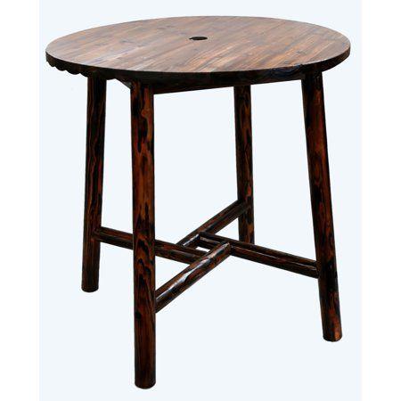 Char Log Round Bar Height Table Logfurniture Round Bar Table