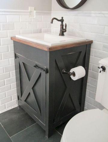 80 Awesome Modern Farmhouse Bathroom Tiles Remodel Ideas Bathroom Vanity Remodel Farmhouse Bathroom Vanity Bathroom Vanity Decor