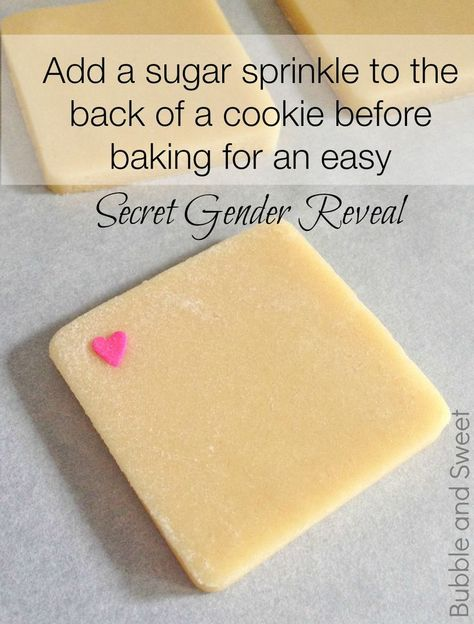 Best gender reveal baby shower cookie idea by Bubble and Sweet