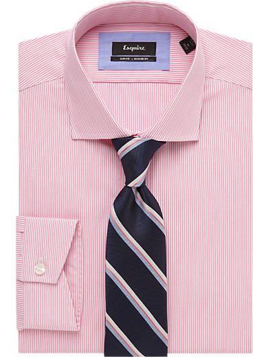 Esquire Pink Stripe Shirt & Ties - Esquire Shirt & Tie Combos ...