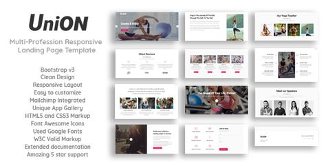Union - Multi-Profession Responsive Landing Page Template by hidraapps_tech