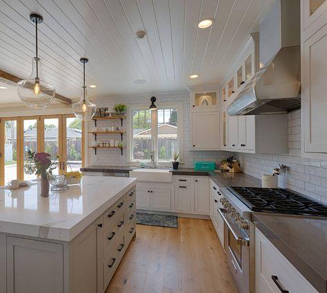 Kitchen Perimeter And Island Countertop Combination Ideas Island