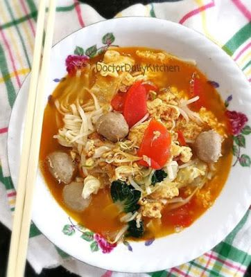 Mie Kuah Tomat Resep Masakan Resep Masakan Indonesia Resep Makanan