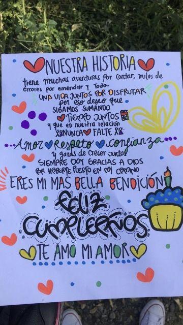 diseños de carteles de cumpleaños para mi novio