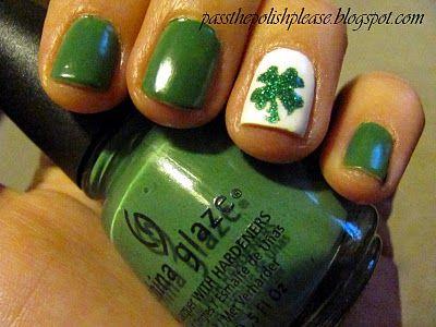 st patty's day manicure