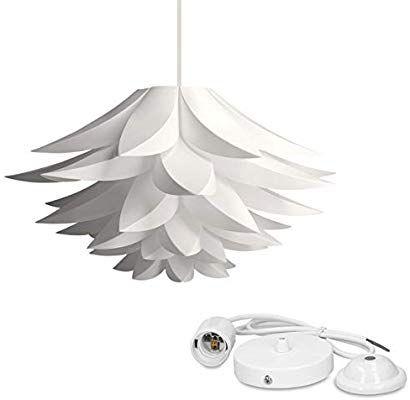 kwmobile DIY Puzzle Lampe Lampenschirm Lotus Schirm Set