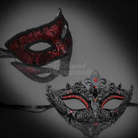 4everstore brings you the most romantic and elegant masks for couples! 1 Price for 2 masks!  The His & Hers masquerade masks you see here have been thoughtfully paired together with our most popular male and female mask. The pairing is perfect for any events you anticipate to attend as the pairing can easily be matched with any formal or casual dress attire! We can also help match other masks together for you should you have other colors or mask designs you would like to pair together from…
