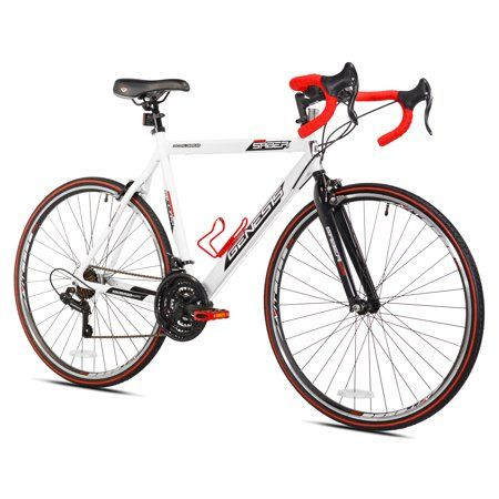 Genesis 700c Saber Men S Road Bike Large White Walmart Com Road Bikes Men Comfort Bike Bike