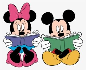 Image result for mickey reading clipart