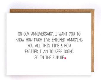 Funny Anniversary Card For Him Paper Anniversary Cards For Husband Cards For Wife Anniv Anniversary Cards For Husband Funny Anniversary Cards Anniversary Funny