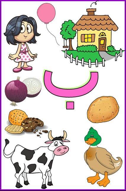 كلمات حرف الباء للأطفال Arabic Alphabet For Kids Learning Arabic Arabic Alphabet