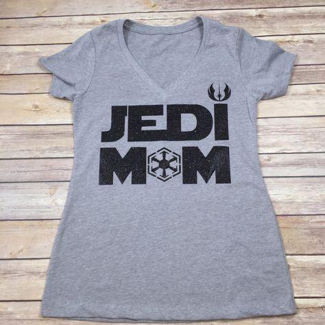 Star Wars Family Shirts Mom Option  Jedi Mom by BlissGiftShop