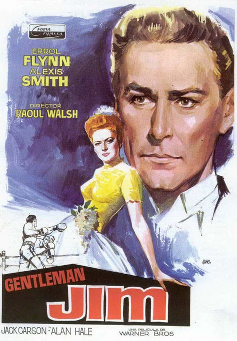 Gentleman Jim Errol Flynn Alexis Smith movie poster print 2