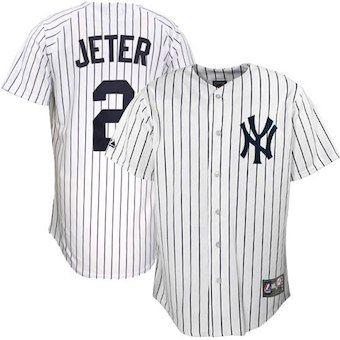 best sneakers 812d3 d2f43 Derek Jeter New York Yankees Majestic Replica Player Jersey ...