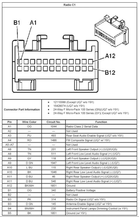 stereo wiring diagram for 2004 chevy silverado  2003