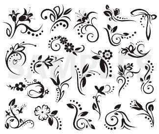Résultats Google Recherche d'images correspondant à http://www.photoshopcafe.com/video/products/ornaments/images/ornaments_samples/s_floral_designs1.gif