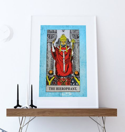Tarot Print The Hierophant Retro Illustration Art Rider Print Vintage Giclee on Cotton Canvas or Paper Canvas Poster Wall Decor #print #tarot #homedecor #victorian #wallart #Judgementprint #ridertarot #riderwaite #giclee #tarotcard #tarotprint #tarotart #victorianart #victoriandecor #etsy #walldecor #homedecorideas #artprint #thehierophanttarot #tarot #thehierophant #thehierophant #thehierophanttarotprint #hierophant