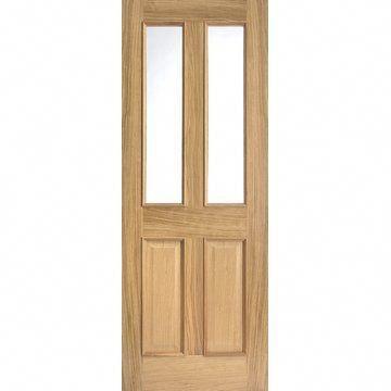 Image Of Richmond Oak Door Raised Mouldings Both Sides Bevelled Clear Glass Interiorunderglow Glazed Fire Doors Oak Fire Doors Fire Doors