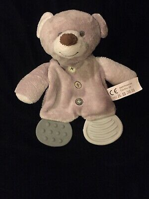 Details About B M Grey Bear Comforter Blanket Buttons Teddy