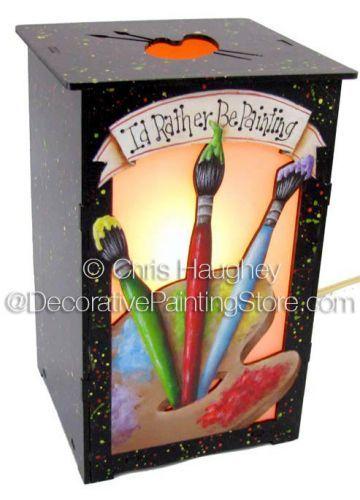 Id Rather Be Painting Lantern ePattern - Chris Haughey - PDF DOWNLOAD