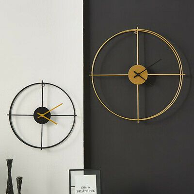 Wrought Iron Wall Clocks Metal Wall Decorations Living Room Wall Pendant Fashion Home Garden Large Wall Clock Modern Simple Home Decoration Metal Wall Clock